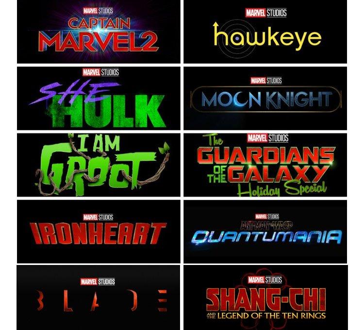 Carteles películas series Marvel