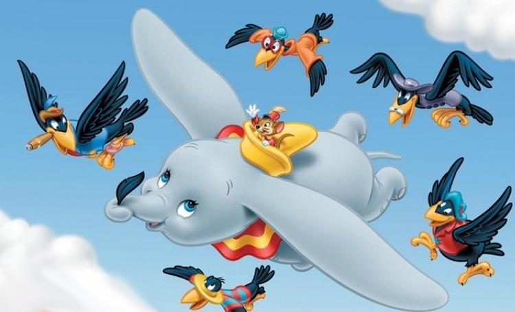 Dumbo y los pájaros negros