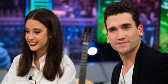 María Pedraza y Jaime Lorente