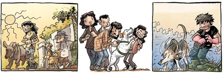 Detalle cómic Refugio de José Fonollosa