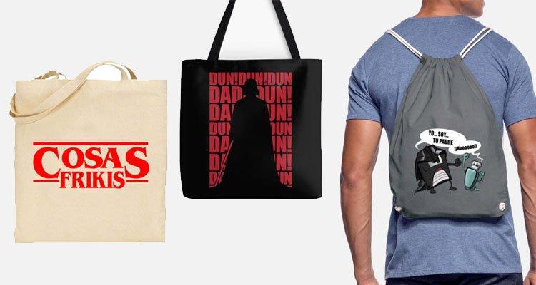 Bolsas de tela personalizadas con motivos frikis