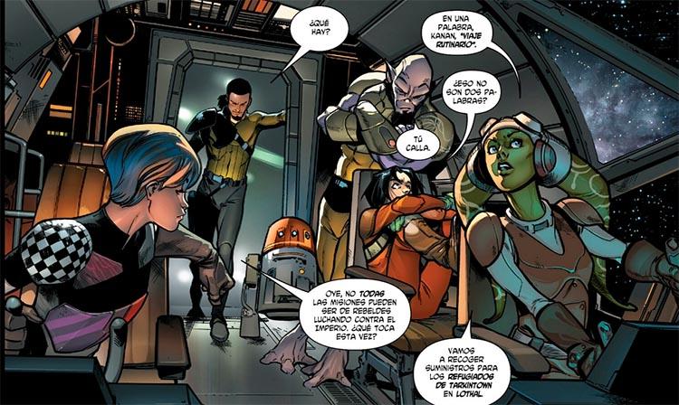 La tripulación de El Espíritu en el cómic Star Wars: Kanan Integral
