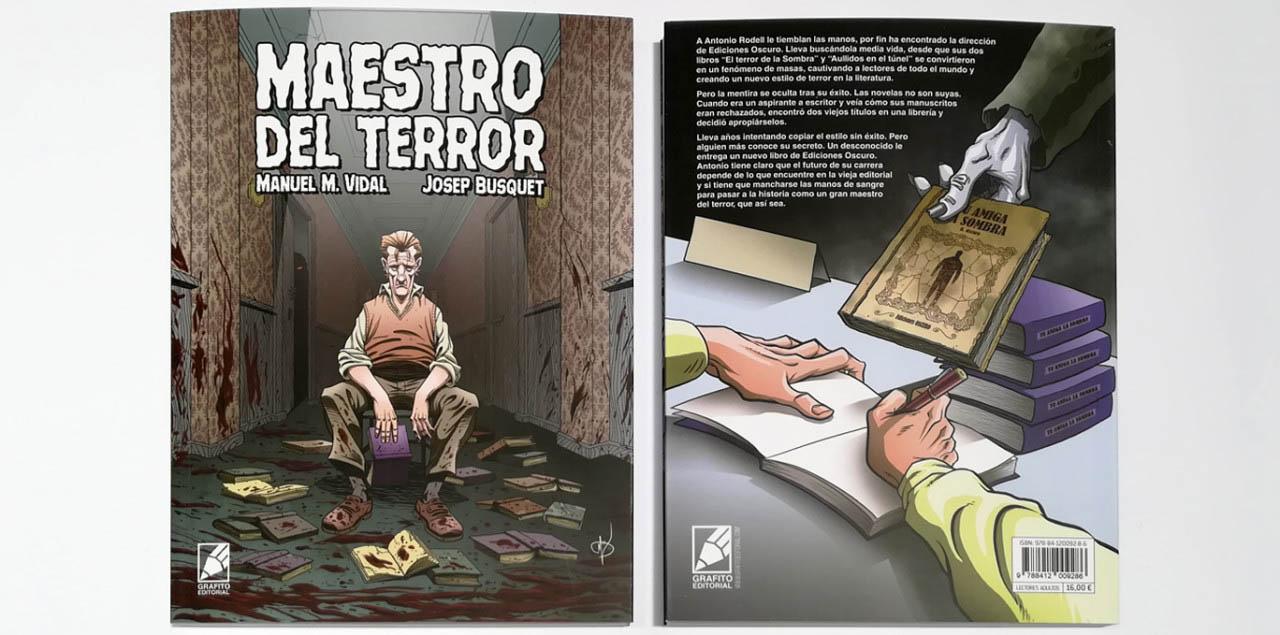 Portada y contraportada cómic Maestro del Terror