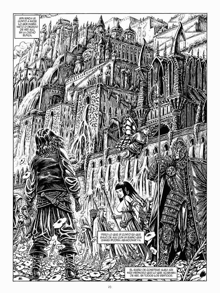 Splash Page del cómic Arn, el Navegante